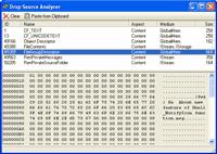The Drop Source Analyzer demo